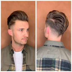Herreklip med fade hos frisør på Frederiksberg